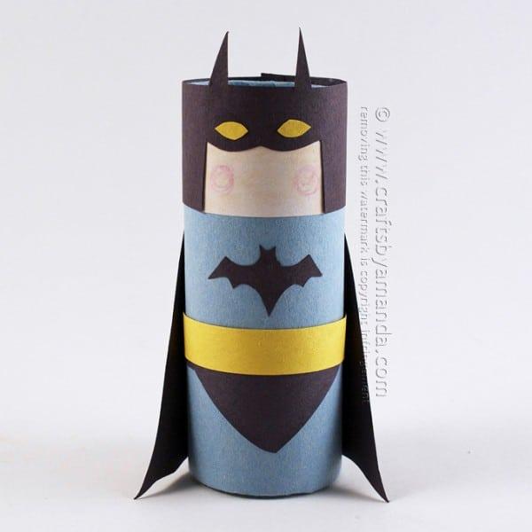 Cardboard Tube Batman by Amanda Formaro of Crafts by Amanda