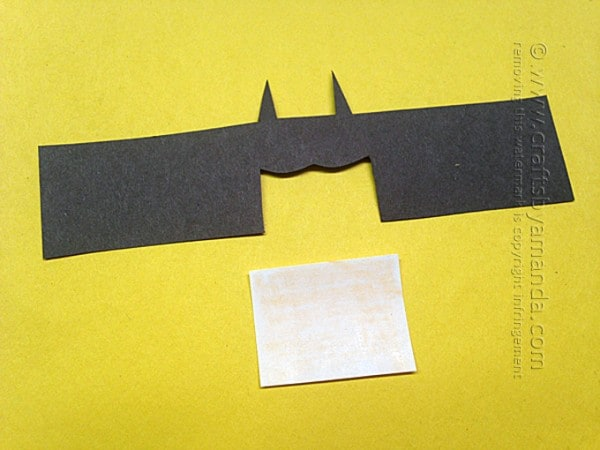Cardboard Tube Batman by Amanda Formaro of Crafts by Amanda
