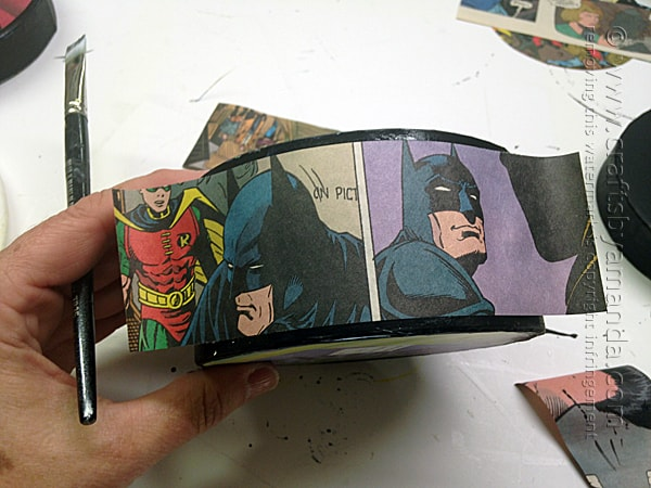 Comic Book Crafts: Superman & Batman Boxes by Amanda Formaro of Crafts by Amanda