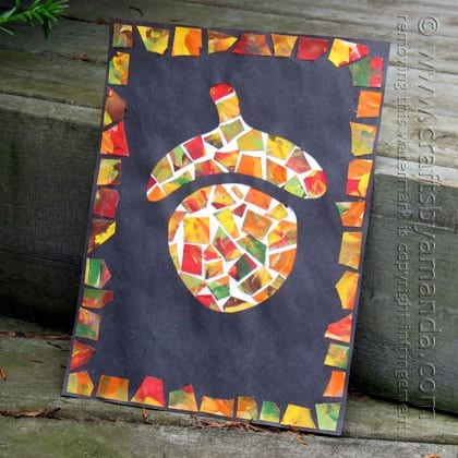 Patchwork Mosaic Acorn by Amanda Formaro of Crafts by Amanda