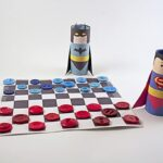 Paper Weaving: Batman vs Superman Checkers