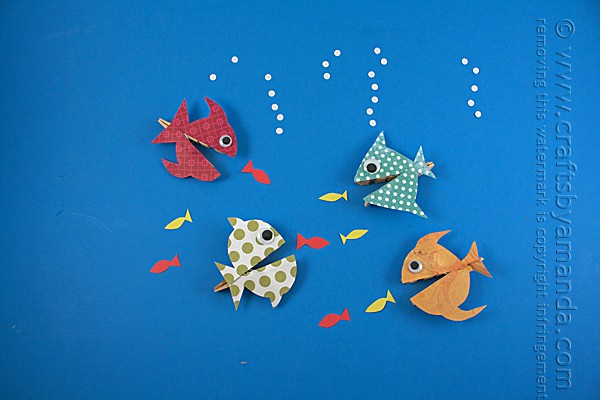 Clothespin craft, hungry fish