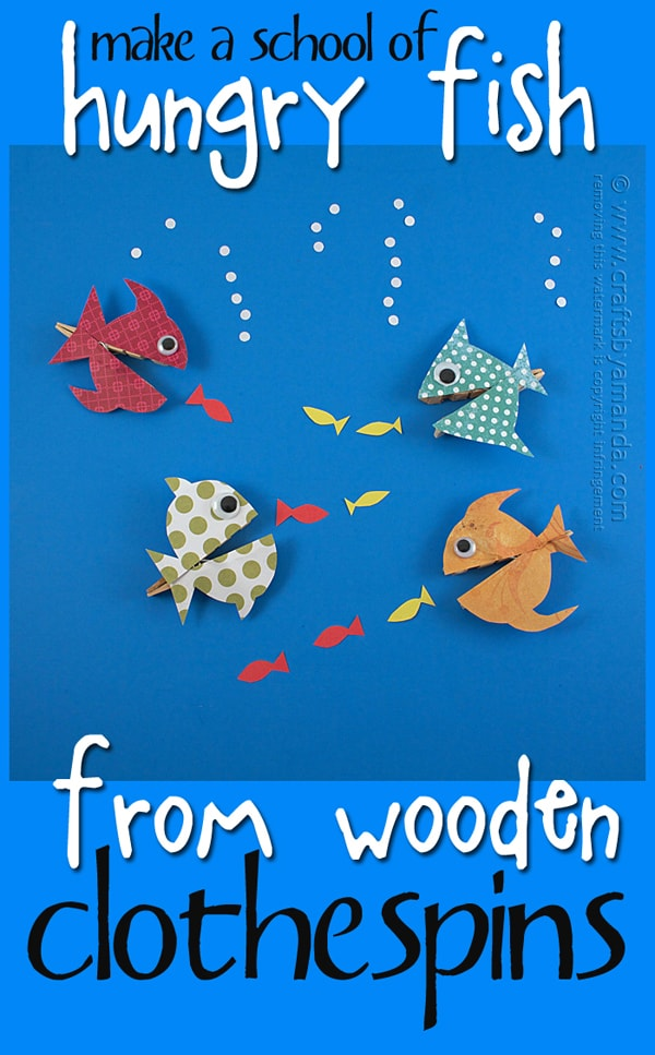 Clothespin Crafts Hungry Fish Crafts By Amanda