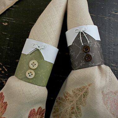 Pilgrim Thanksgiving Napkin Rings by Amanda Formaro of Crafts by Amanda