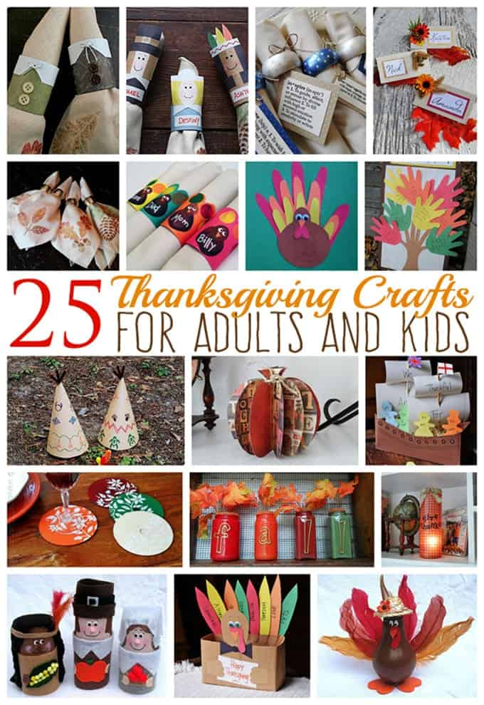 25 thanksgiving crafts for adults and kids crafts by amanda for Fun ideas for adults