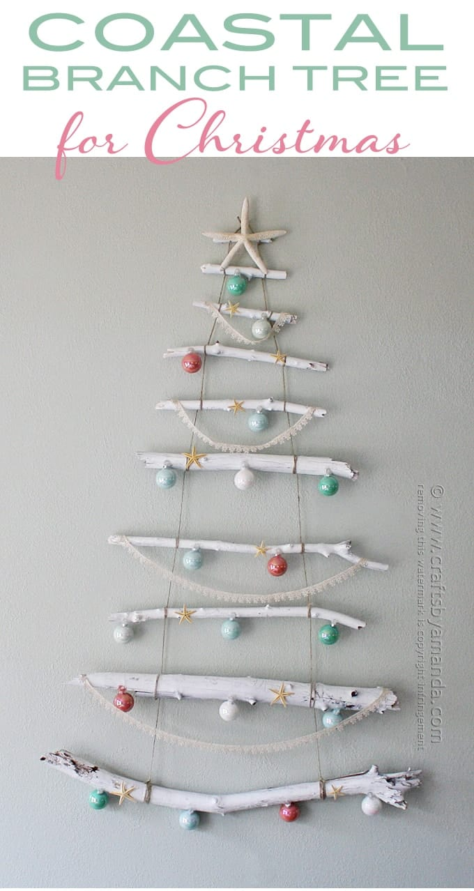 Coastal Branch Tree for Christmas by Amanda Formaro, Crafts by Amanda