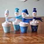 Plastic Spoon Crafts: Snowmen