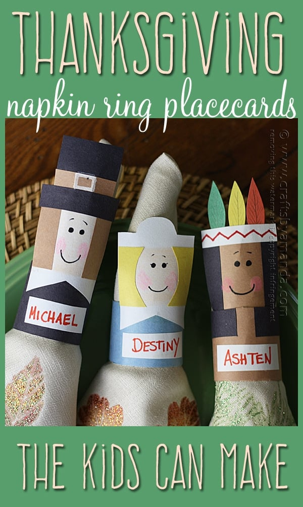 Thanksgiving Napkin Rings & Placecards by Amanda Formaro of Crafts by Amanda