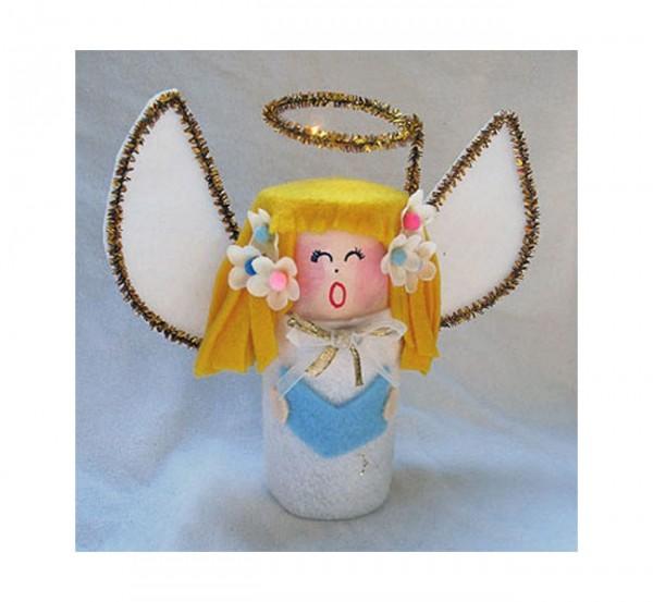 Cardboard Tube Angel by Amanda Formaro, Crafts by Amanda