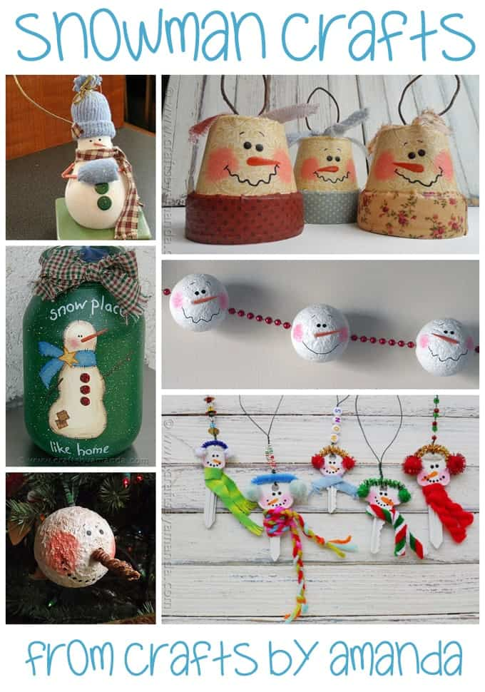 More Snowman Crafts from Amanda Formaro of Crafts by Amanda