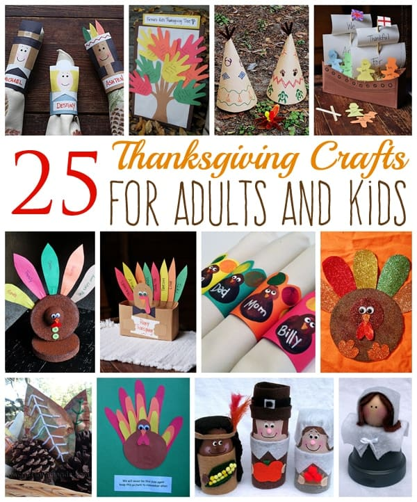 25 Thanksgiving Crafts for Adults and Kids