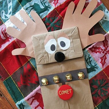 Paper Bag Reindeer Puppet by Amanda Formaro, Crafts by Amanda