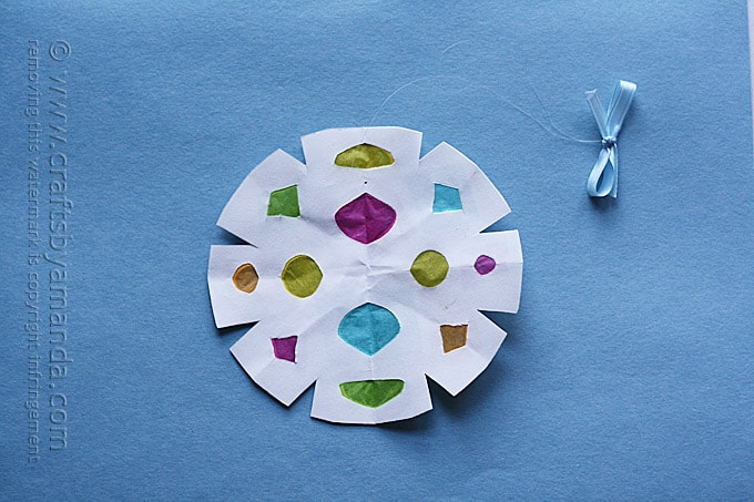 Faux Stained Glass Paper Snowflakes Crafts By Amanda