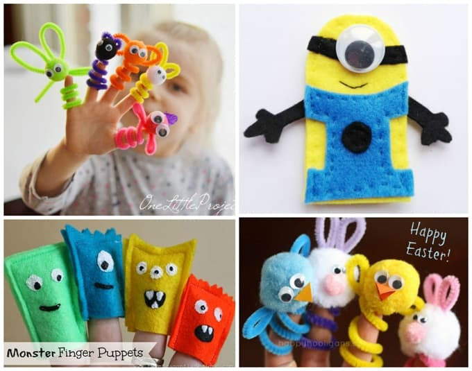 Kid's DIY finger puppets