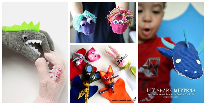 hand puppets DIY collage