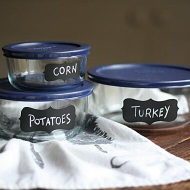 DIY Chalkboard Pyrex Dishes, Amanda Formaro of Crafts by Amanda
