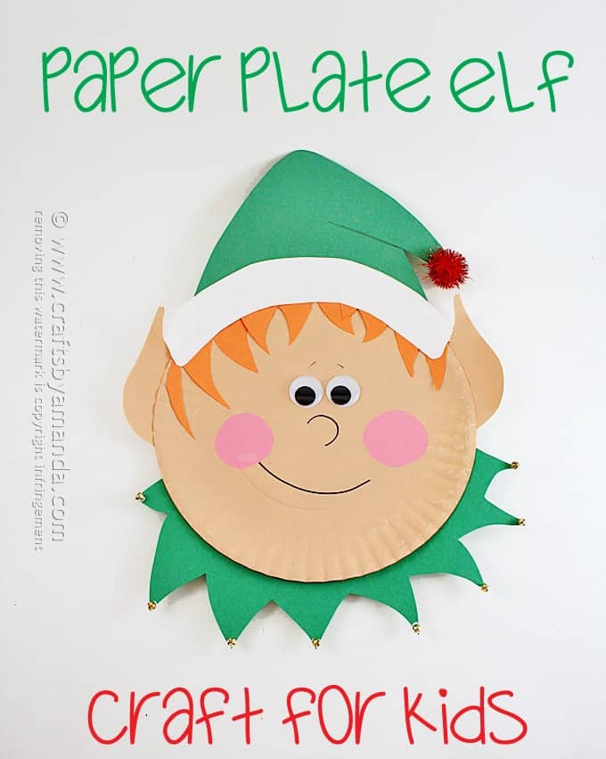 Paper Plate Elf by Amanda Formaro, Crafts by Amanda