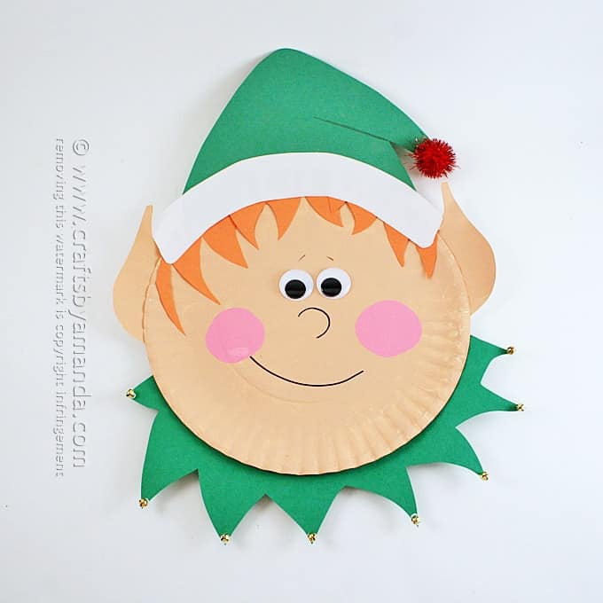 Paper Plate Elf By Amanda Formaro Crafts