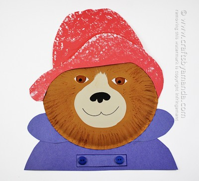Paper Plate Paddington Bear by Amanda Formaro, Crafts by Amanda