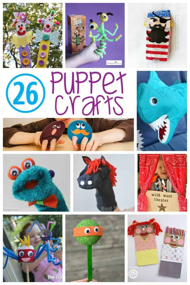 26 puppet crafts for kids