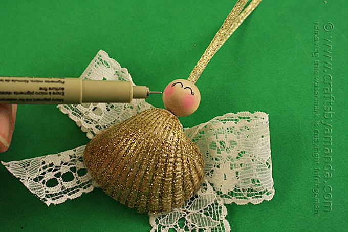 Seashell Angel Ornament by Amanda Formaro of Crafts by Amanda