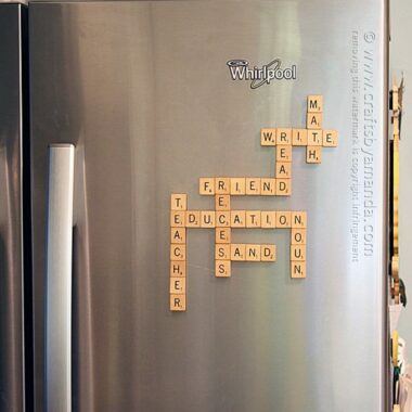 DIY Refrigerator Scrabble Game by Amanda Formaro, Crafts by Amanda