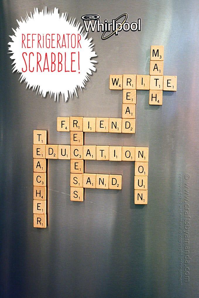 DIY Refrigerator Scrabble Game