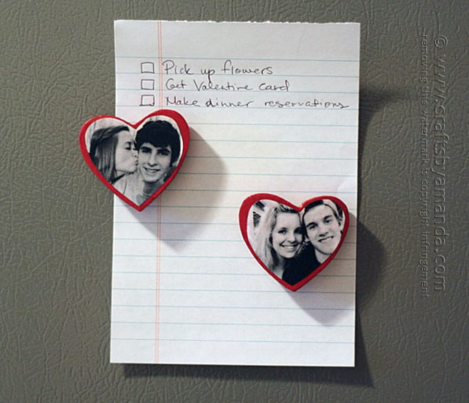 Heart Shaped Photo Magnets