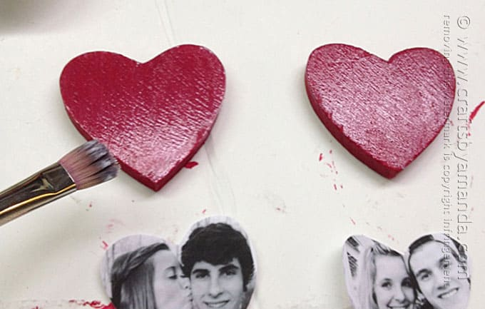 Heart Photo Magnets by Amanda Formaro, Crafts by Amanda