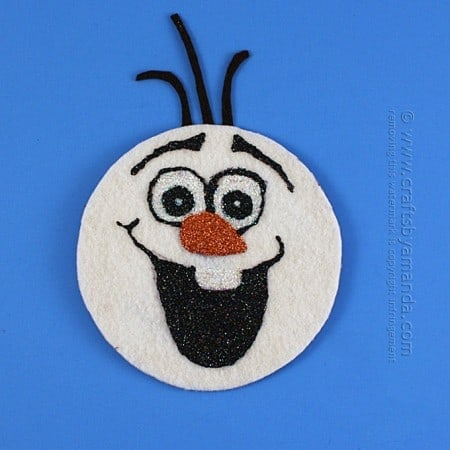 CD Olaf Craft from Frozen by Amanda Formaro, Crafts by Amanda