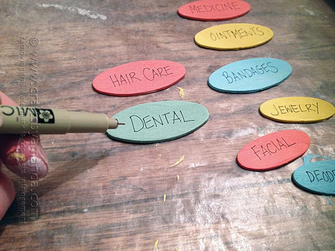 writing on wooden labels