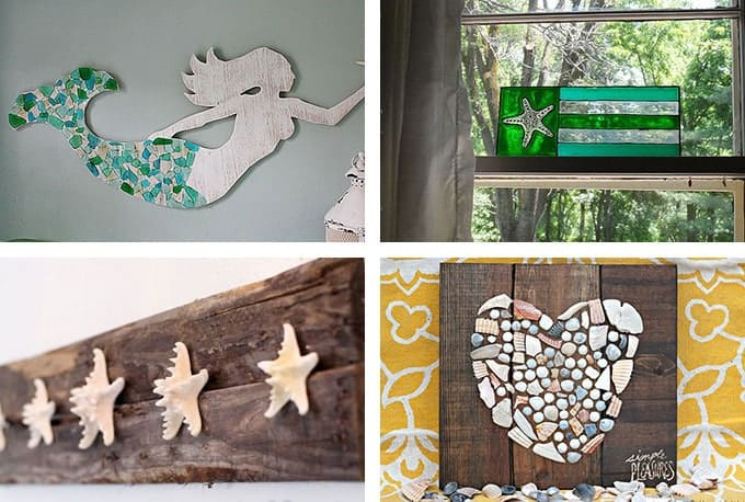 29 beach crafts coastal diy wall art - Diy Beach Decor
