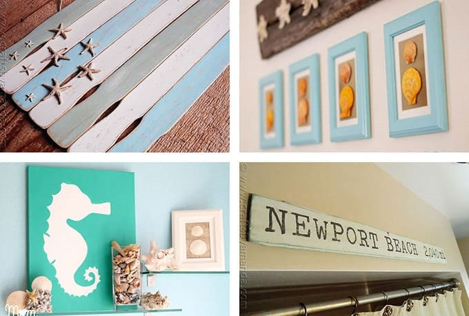 Beach Wall Decor beach crafts: coastal diy wall art