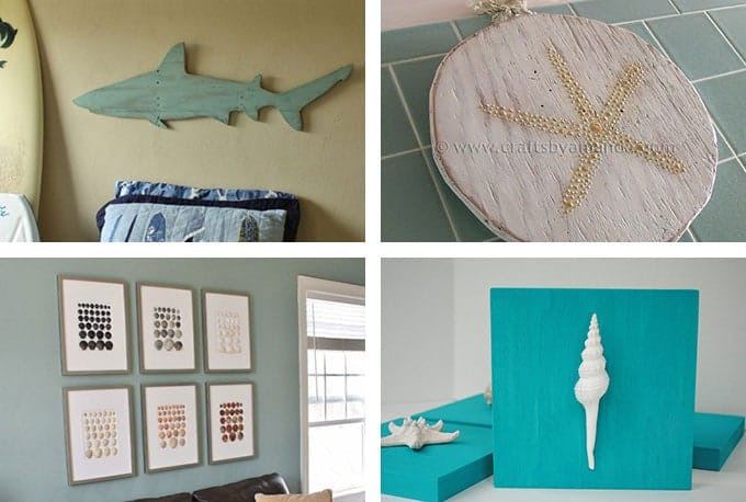 29 beach crafts coastal diy wall art - Coastal Wall Decor