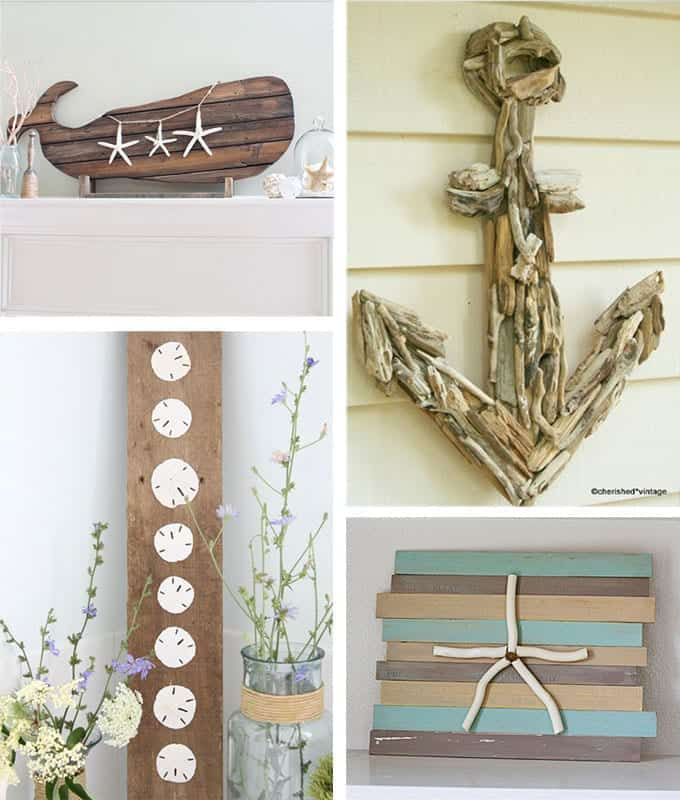 Arts And Crafts For Home Decor: 29 Beach Crafts: Coastal DIY Wall Art