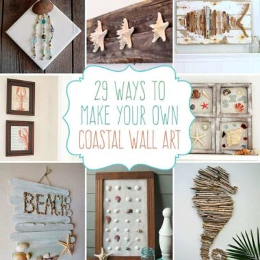 29 Beach Crafts: Coastal DIY Wall Art