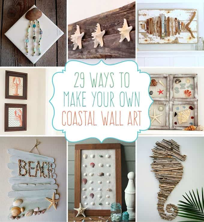 29 beach crafts coastal diy wall art for Arts and crafts style prints