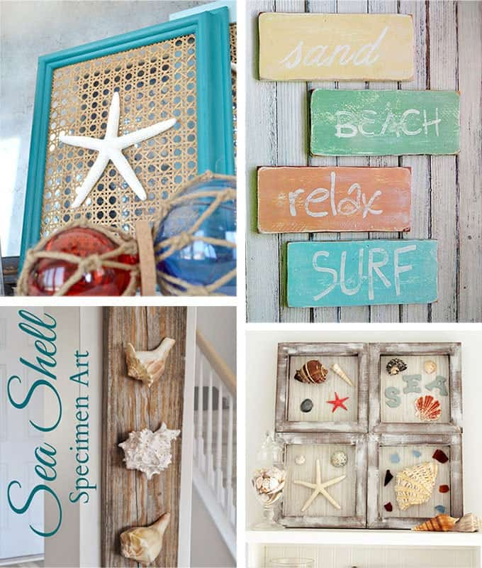 Lovely Coastal Wall Decor Part - 6: 29 Beach Crafts: Coastal DIY Wall Art