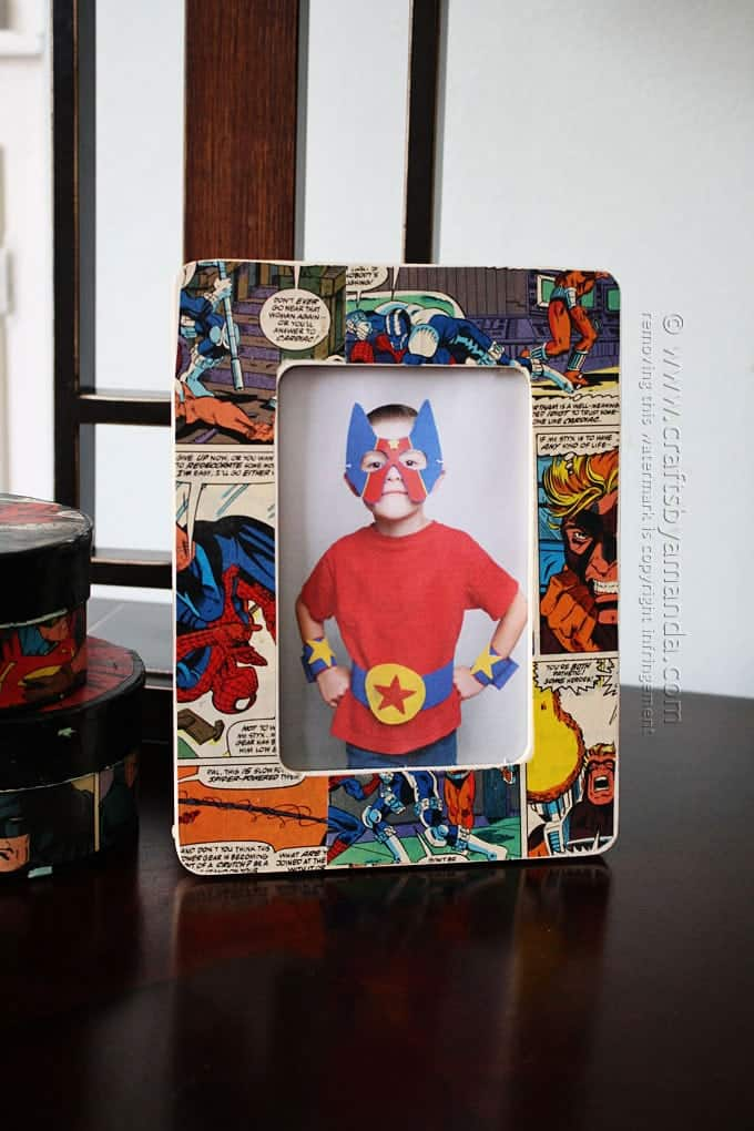 how to make a comic book decoupage frame by amanda formaro crafts by amanda