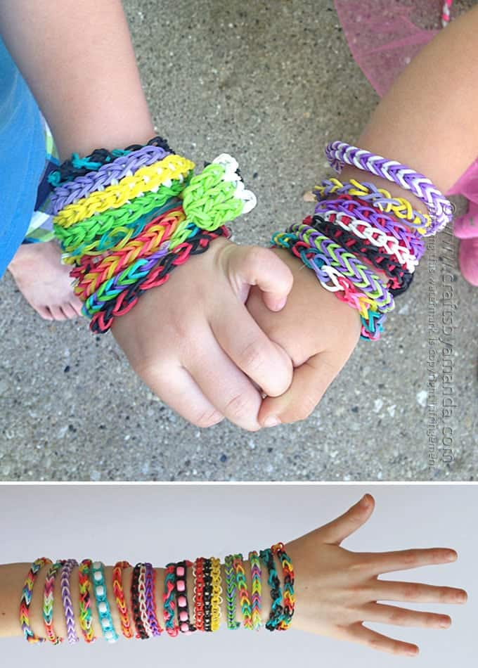 bracelets rainbow rubberband beautiful bracelet kaleidoscope loom
