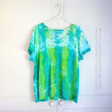 Shibori Tie Dye - Cool Hues by Amanda Formaro, Crafts by Amanda