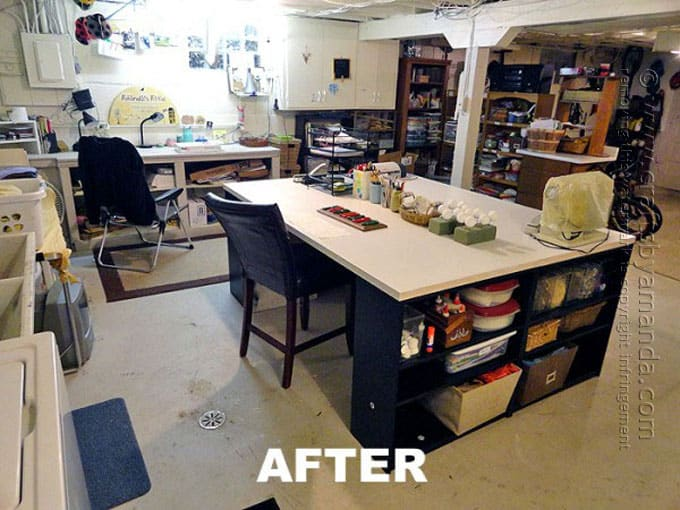 My old craft room with the big craft table, Amanda Formaro, Crafts by Amanda