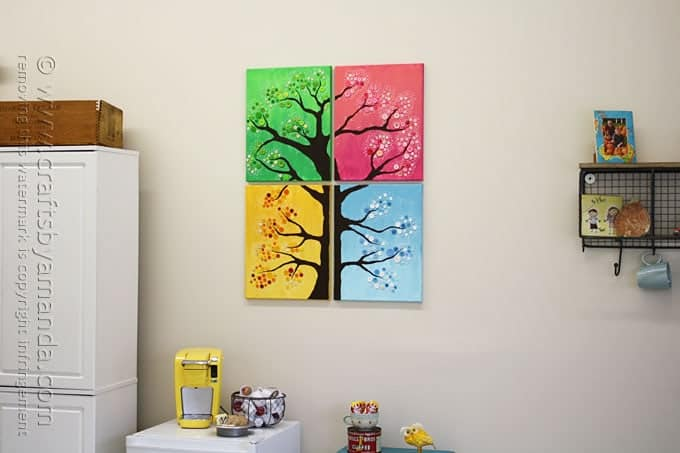 Button tree on wall