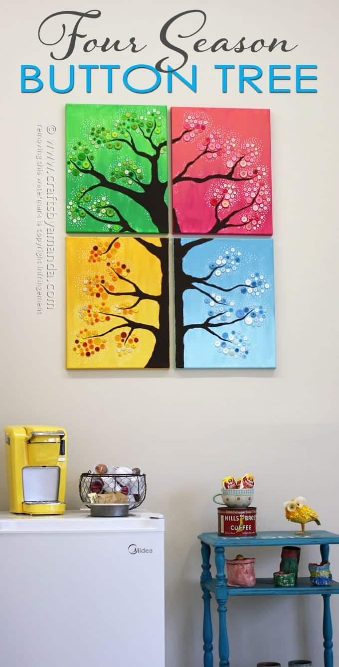 Four Seasons Button Tree