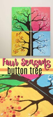 four seasons button tree wall art pin image