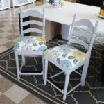 Craft Room Stool Makeover: Easy Reupholstering