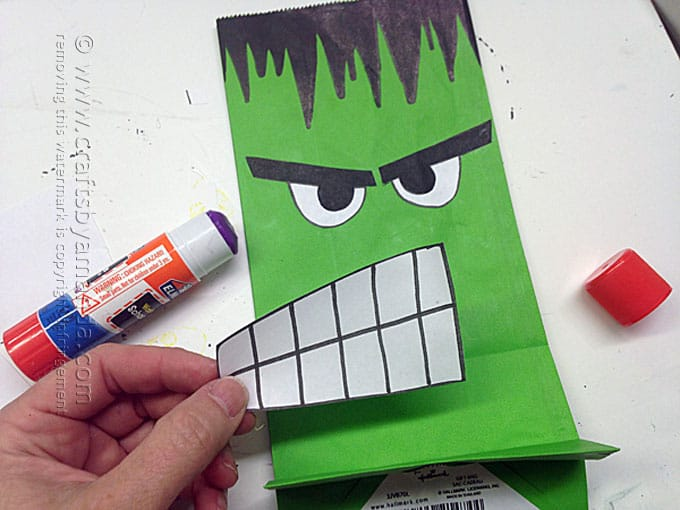 Avenger Craft: The Hulk Party Bag, Amanda Formaro - Crafts by Amanda