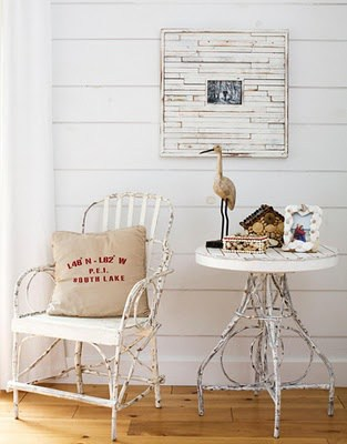 The inspiration for my cottage slat style beach frame, Amanda Formaro of Crafts by Amanda