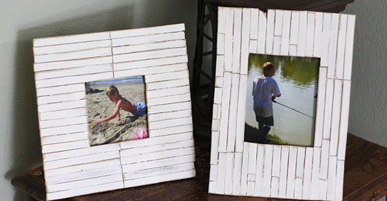 Beach Frames: Cottage Slat Style - Crafts by Amanda