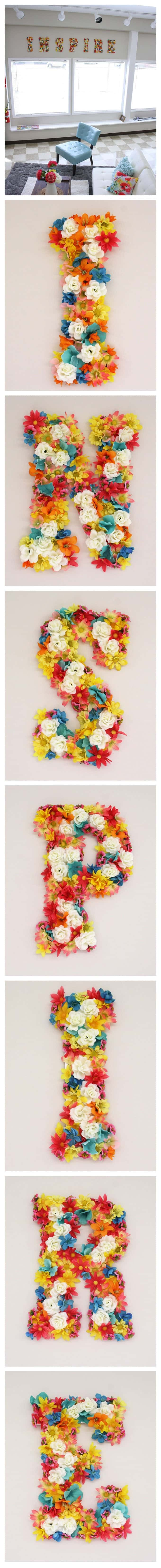 diy flower wall letters amanda formaro crafts by amanda